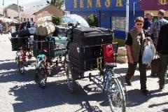 Bagage transporteres fra Bolivia til Peru