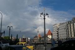 Sol i Fernsehturm og Lutherstjernerne