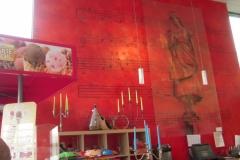 Kunst på en lille café