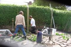 De voksne ordner terrasse