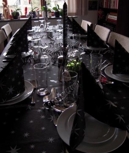 Bordet er dækket