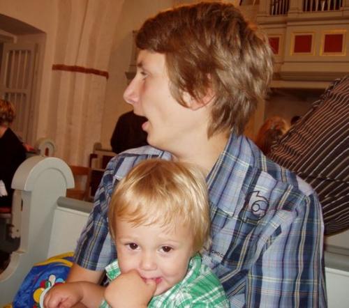 Onkel Niklas med Viggo