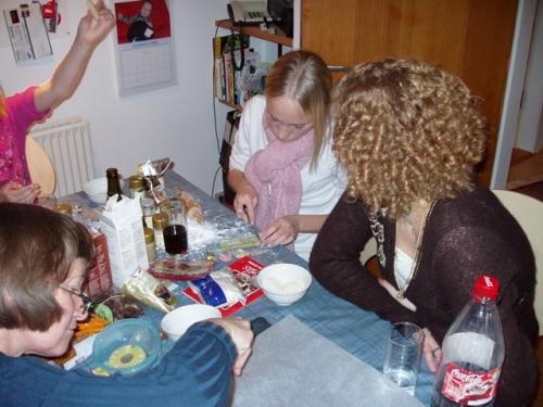 Mona, Sarah og Charlotte