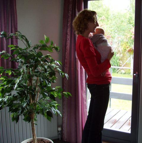Charlotte med Nanna