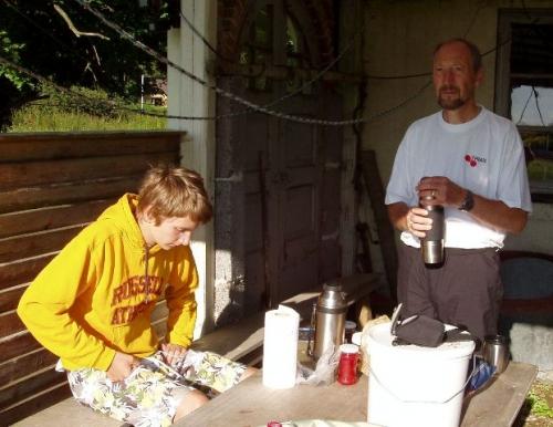 Niklas og Peer til morgenmad