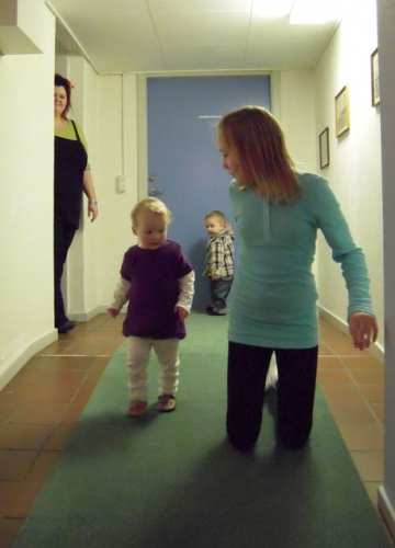 Bettina, Nanna, Magnus og Ida