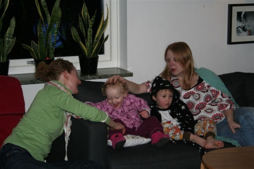 Charlotte, Nanna, Viggo og Anna