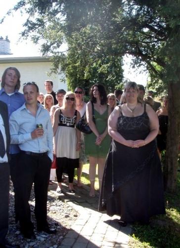 Brudeparret modtages