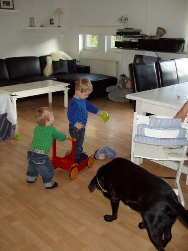 Magnus, Kasper og hund