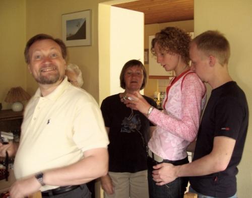 Mogens, Mona, Charlotte og Lasse