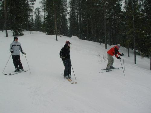 Endelig på ski