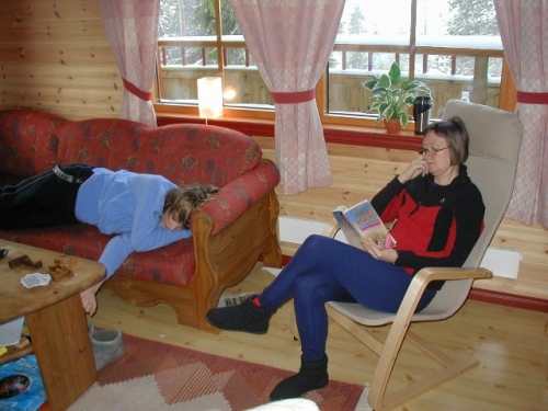Niklas og Mona slapper af