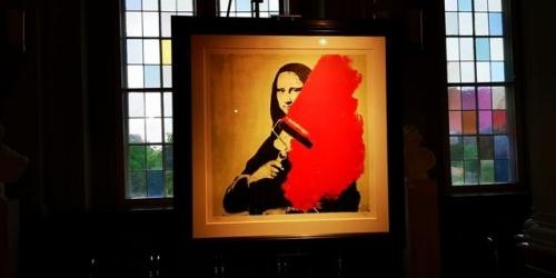 Rotes Rathause med Mona Lisa udstilling